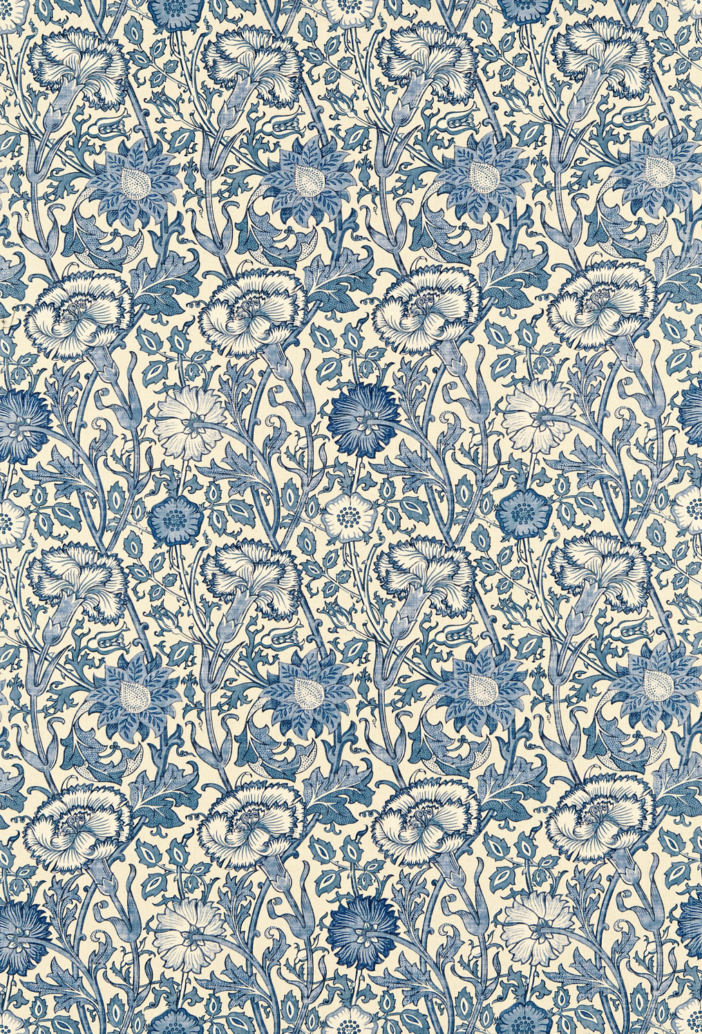 Englische tapetenmuster william morris stil tapeten online for Tapete muster blau