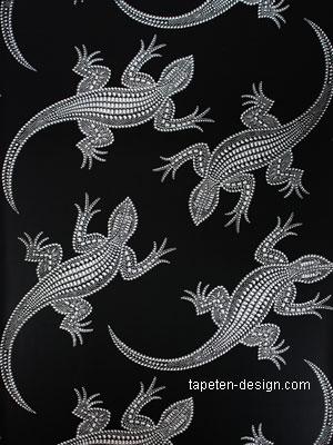 Osborne little komodo tapeten krokodil optik kaufen - Tapeten schwarz weiay silber ...