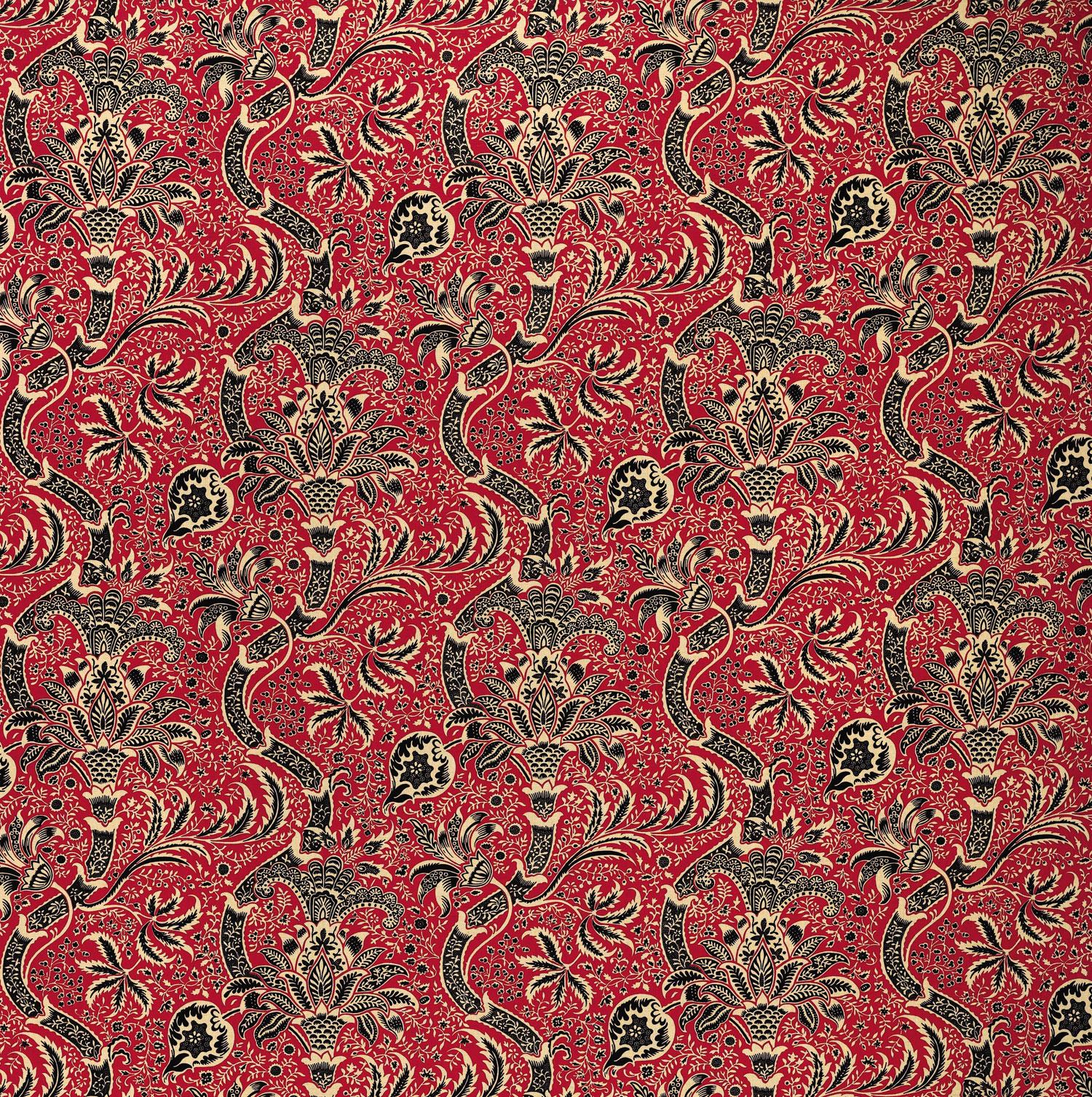 Englische tapetenmuster william morris stil tapeten online for Tapete rot muster